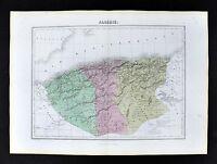 1877 Migeon Map - Algeria Oran Constantine Alger Algiers - Barbary North Africa