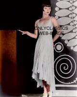 """BEAUTY LOUISE BROOKS LULU IN SEXY DRESS ART DECO COLOR PHOTO """"LOOKING AT CAMERA"""""""