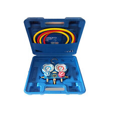 Refrigeration Air Conditioning AC Diagnostic Manifold Gauge Tool Set R410A-404A