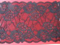 Spitze Schwarz elastisch  0,5 meter 18cm breit Borte tolle angebot selten