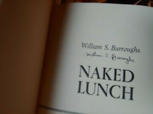 SIGNED William S Burroughs Naked Lunch 1st EDITION 1959 HARDCOVER hcdj