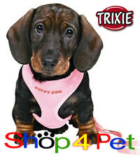 TRIXIE SOFT MESH HARNESS for PUPPIES 4 COLOURS +MATCHING COLOUR ADJUSTABLE LEASH