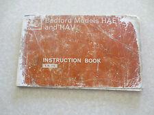Original 1960s Bedford van HAE and HAV models owners manual