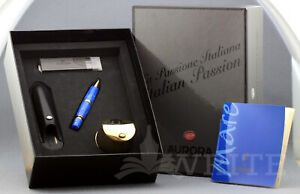 NEW ! AURORA SKETCH PEN LIM. ED. MARE  BLUE AND GOLD  N°446  COMPLETE BOX