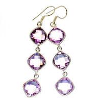"""Amethyst 925 Sterling Silver Earrings 2 1/2"""" Ana Co Jewelry E400645F"""
