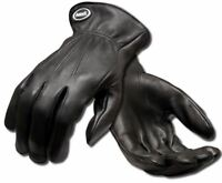 1 or 2 Pairs Ansell Projex Driver Black Real Soft Leather Quality Driving Gloves