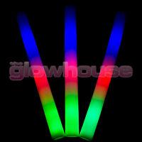 Light Up Premium LED Foam Glow Stick High Quality Flashing Multi Colour