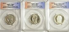 2009 P-D-S James K Polk 3 coin Set  First Day Issue ANACS Certified