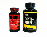 Optimum Nutrition OPTI-MEN Muscle Vitamins + SSN RAPID MASS Build Muscle COMBO