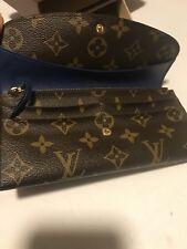 Authentic Louis Vuitton Long Wallet Emilie Browns Monogram