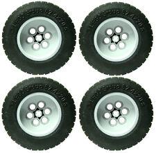 4 NEW XL 62.4 x 20 LEGO WHEELS technic lot short axle  62.4mm 20mm black tires