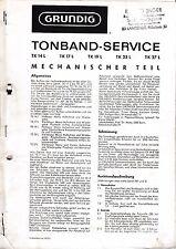 Service Manual-Instructions pour Grundig tk 14 L, tk 17 L, tk 19 L, tk 23 L, tk 27 L
