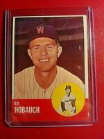 1963 Topps Baseball Card #423 Ed Hobaugh Senators NrMt NM