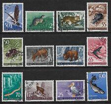 Yougoslavie 1954 animaux SG 765-776 utilisé (Cat £ 65)