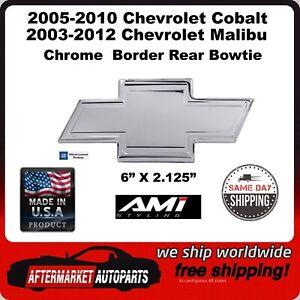 2003-2012 Chevrolet Malibu Chrome Bordered Aluminum Bowtie Rear Emblem 96140C