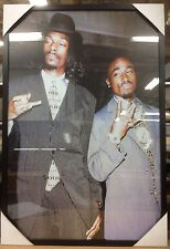 New Framed Snoop Dogg and Tupac Hip-Hop Art Poster Print LARGE 24 x 36