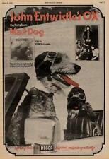 Who The John Entwistle Ox UK LP advert 1975