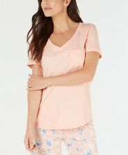 $29 Charter Club Knit Pajama Top, Pink, Size: Small