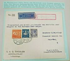 1929 TEST FLIGHT COVER NEDERLAND TO BANGKOK FRANCE SAIGON ONLY 67 B98.10 $0.99
