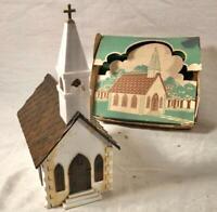 VINTAGE PLASTICVILLE CHURCH KIT O SCALE MODEL RAILROADING