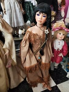 "Absolutely Breathtaking 37"" Porcelain Artist Doll Pocahontas"