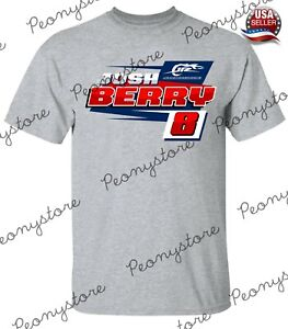 Men's #8Josh Berry Nascar Racing 2021 Graphic Design Sport Grey T-Shirt S-4XL