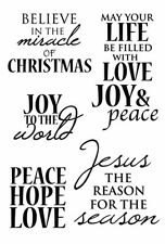 Kaisercraft - Holy Night - 5 clear Christmas cling stamps