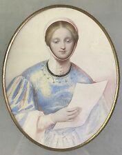 2.von2: Romantik Gemälde Italienerin Porträt Heinrich Schwemminger Wien Rom 1839