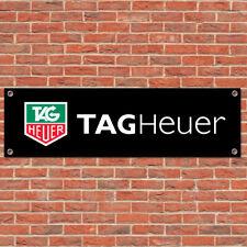 Tag Heuer Motorsport Sport Voiture Piste Racing Signe Garage Atelier Bannière Affichage