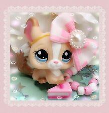 Littlest Pet Shop LPS Authentic RARE 2242 Cream Tan White Chinchilla Blythe Pet