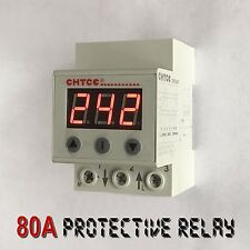 80A Single Phase Adjustable Protective Relay: Over/Under Voltage Fast Protection