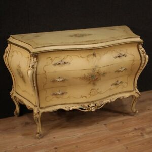 Dresser Lacquered Dresser Painting IN Antique Style Furniture Three Drawers 900