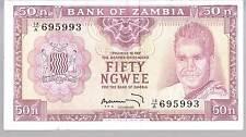 ZAMBIA  BANKNOTE 50 P9b 1969 EF
