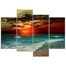 Framed Canvas Prints Abstract Painting Pictures Landscape Wall Art Home Decor