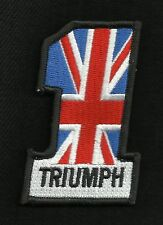 TRIUMPH Union Jack British Flag Number One #1 Motorcycle Biker Patch