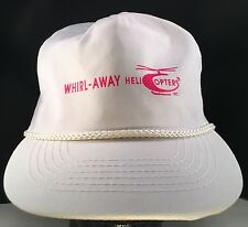 Vintage Whirl- Away Helicopters White Rope Front Zipback Hat