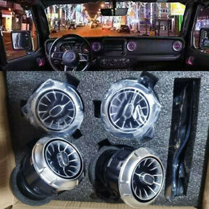 4x led Illuminated Turbo air ac vent purifier For Jeep Wrangle 2014-2021 JK JL
