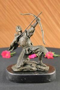 Solid Bronze Japanese Samurai Warrior Soldier Statue Stunning Detail Decor Sale