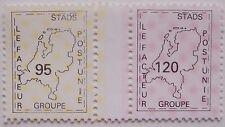 Stadspost Den Bosch 1989 - Paar met tussenstrook Landkaart van Nederland