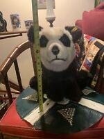 Vintage Steiff Manschli Standing Panda 0477/60 Made in Western Germany