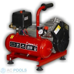 Nardi Oilless Compressor. Extreme 24v. 250 lpm. 7 Litre Tank