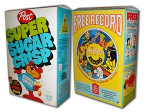 Post  SUPER SUGAR CRISP Cereal BOX Archie Record (BOX ONLY!)