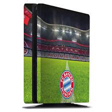 Sony Playstation 4 PS4 Slim Folie Aufkleber Skin Stadionrasen FC Bayern München