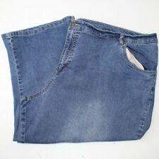 WOMAN WITHIN CROPPED JEANS Size 26W Medium Blue Denim 26 W