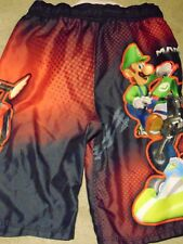 Nintendo Mario Kart Wii Youth Board-shorts Large 14 drawstring elastic waist