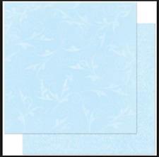 BoBunny 12x12 papel scrapbooking Doble Dot, Polvo Azul florecer X 2 Hojas