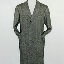 Vintage Polo University Club Ralph Lauren 42R Herringbone Wool Tweed Trench Coat