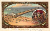 Postcard Heinz Ocean Pier in Atlantic City, New Jersey~121329