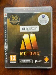 Singstar Motown PS3 Game Karaoke Singing for Sony PlayStation 3