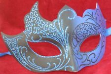 BLACK & BLUE GOTHIC MALE/FEMALE VENETIAN MASQUERADE CARNIVAL PARTY EYE MASK